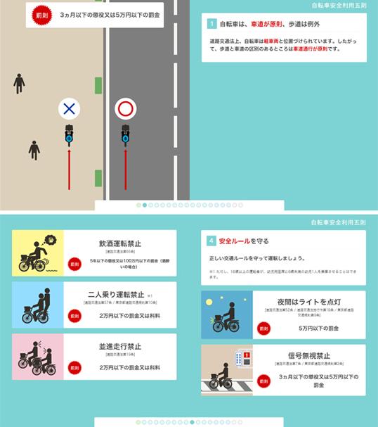 インフォグラフィックス:自転車の交通ルール~正しい交通ルールを学びましょう~